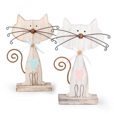 Котка - миниатюра, 12 х 17 cm, дърво