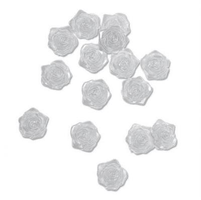Декоративни перли, Розички, 18 mm, 15 бр, сребристи