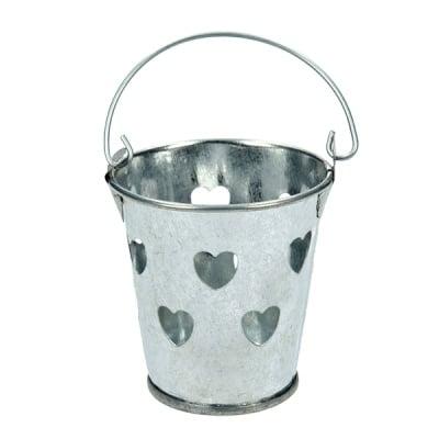 Кофа на сърца, поцинкована - миниатюра, 5,5 x 6 cm