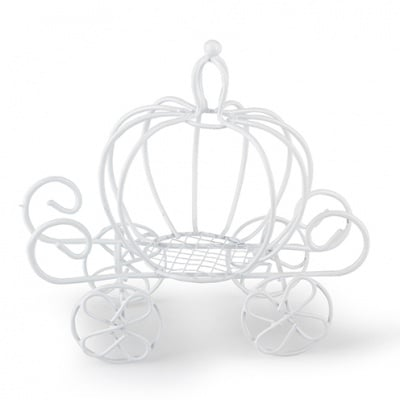 Градинска количка - миниатюра, 13 х 12 cm, бяла