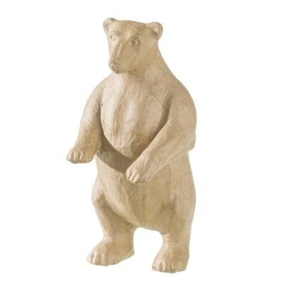Фигура папиемаше, Полярна мечка, 12 x 14 x 27cm