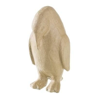Фигура папиемаше, Пингвин наведен, 9.5 x 10 x 20.5cm