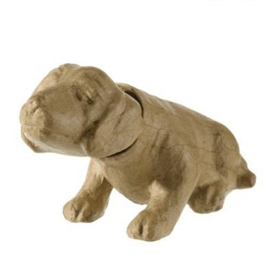 Кимащо кученце - фигура папиемаше, 22,5 x 9 x 13 cm