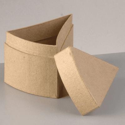 Картонена кутия, Парче торта, 10.5 х 8 х 8 cm, кафява