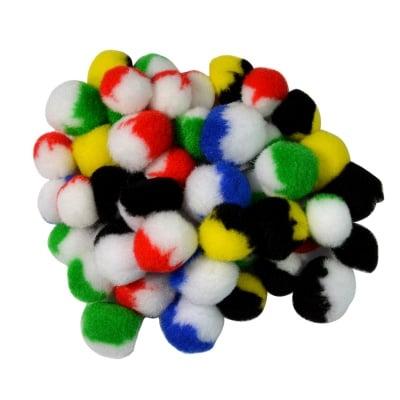 Помпони, ф 20 - 30 mm, двуцветни, 50 бр.
