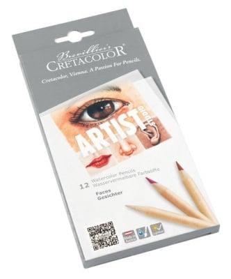 Комплект акварелни моливи Artist Studio Faces, 12 цвята