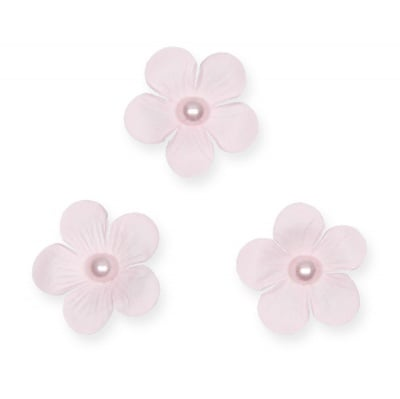 Декоративни цветчета, 40 mm, 12 бр., светлорозови