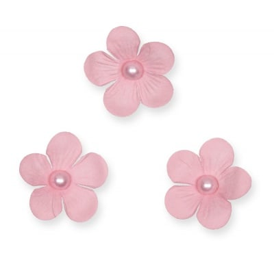 Декоративни цветчета, 40 mm, 12 бр., розови