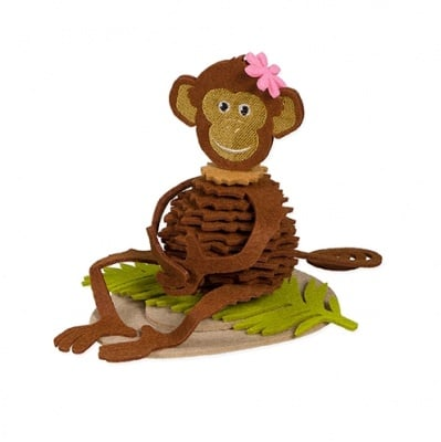 Креативен комплект Monkey, филц, 14.5 cm, 38 части