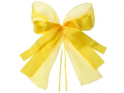 Комплект текстилни ленти, Schleifenfix, жълти