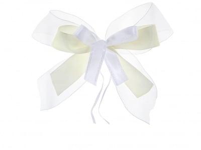 Комплект текстилни ленти, Schleifenfix, бели