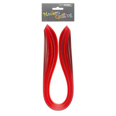 Ленти, Quilling, 10 mm x 48 cm, 100 ленти, червена гама