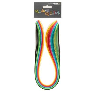 Ленти, Quilling, 10 mm x 48 cm, 100 ленти, разноцветни