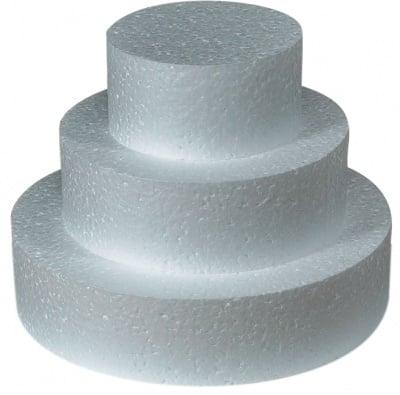 Торта от стиропор, бял, H 21 cm, ф 20 cm