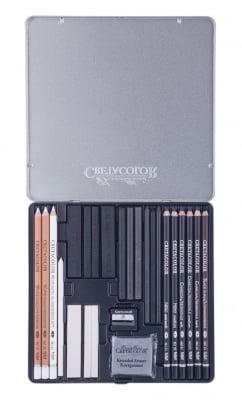 Комплект за графика Black & White, метална кутия, 25 части