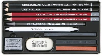 Комплект художествен CretaColor,TEACHER'S CHOICE, 11 ч.
