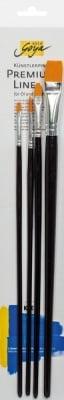 Комплект четки за акрилни бои SOLO Goya, 4 бр, черни