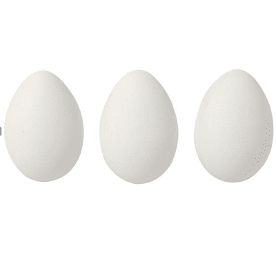 Яйце от пластмаса гладко, H 60 mm, бяла