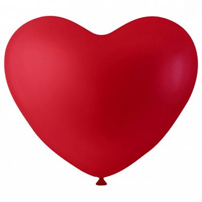 Балони с форма на сърце, ф 23 cm, 8 бр., червен