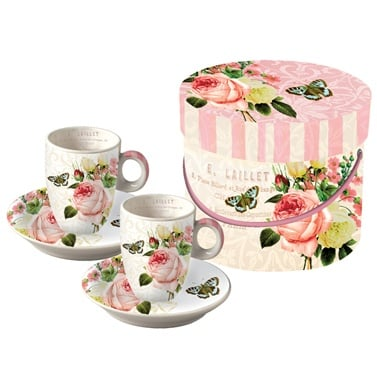Комплект порцеланови чаши, Jardin Rose, 2 бр.