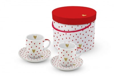 Комплект порцеланови чаши PPD, Little hearts