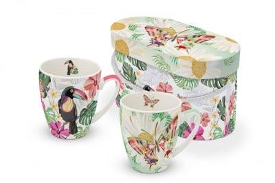 Комплект порцеланови чаши PPD, Tucan & Butterfly