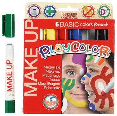Комплект гримове Playcolor Make Up, 6цв., 5g, основни цветове