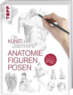 Книга на немски език TOPP, DIE KUNST DES ZEICHNENS - ANATOMIE, FIGUREN, POSEN, 192 стр.