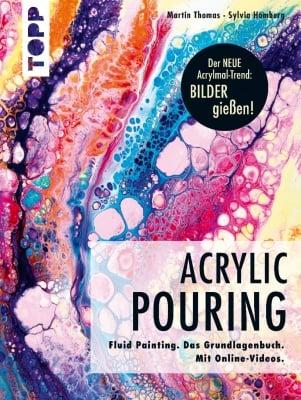 Книга на немски език TOPP, Acrylic Pouring, 128 стр.