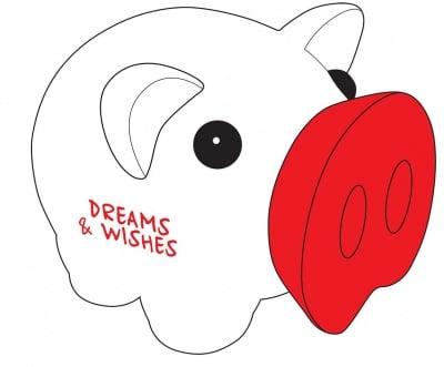 Касичка-прасенце DREAMS & WISCHES, пластмаса