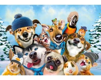 Пъзел художествен WENTWORTH, Winter Pet Selfie, 40 части