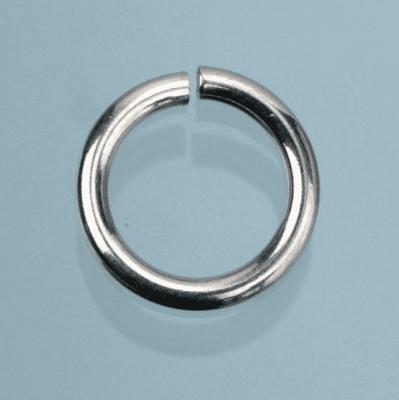 Халка, кръгла, ф 4,8 mm, 10 бр., сребриста