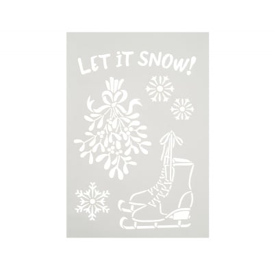 Шаблон, Let it snow, 6 части, A4