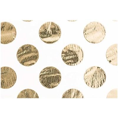 Тишу хартия, 17 g/m2, 50 x 70 cm, 4л., розова/ златисти точки