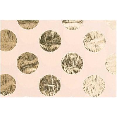 Тишу хартия, 17 g/m2, 50 x 70 cm, 4л., кафява/ златисти точки