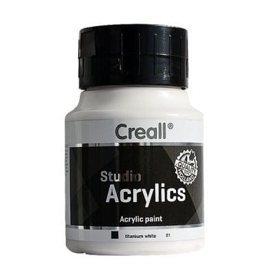 Акрилна боя CREALL-STUDIO-ACRYLICS, 500 ml, бяла