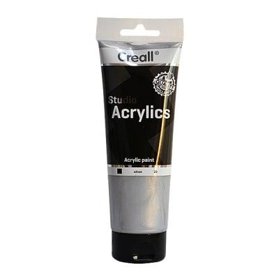 Акрилна металик боя CREALL STUDIO, 250 ml, сребърна