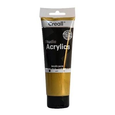 Акрилна металик боя CREALL STUDIO, 250 ml, златна