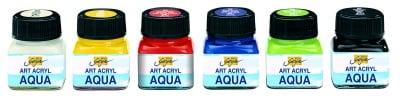 Аква-акрилна боя Art Acryl Aqua, 20 ml, бурканче, бяла