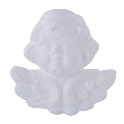 Ангелче от стиропор, бял, H 120 mm
