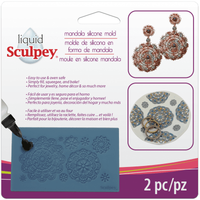 Силиконов молд Sculpey, Mandala, 2 бр.