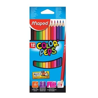 Комплект цветни моливи, Maped, Color Peps, 12 цв.