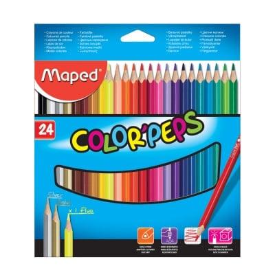Комплект цветни моливи, Maped, Color Peps, 24 цв.