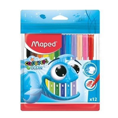 Комплект флумастери Maped, Ocean, 12 цвята