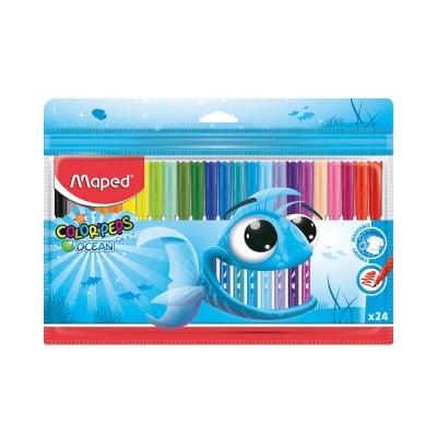 Комплект флумастери Maped, Ocean, 24 цвята