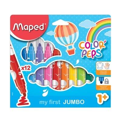 Комплект флумастери Maped,COL.PEPS EARLY AGE,12 цвята
