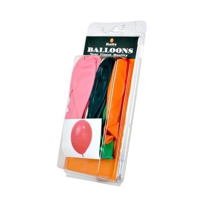 Балони кръгли, ф 30 cm, 20 бр., различни цветове