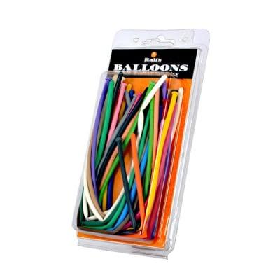 Балони за моделиране, Typ 160, ф 2,5 x 150 cm, 20 бр., различни цветове