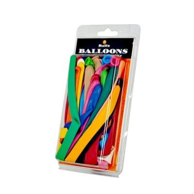 Балони за моделиране, Typ 260, ф 5 x 150 cm, 20 бр., различни цветове