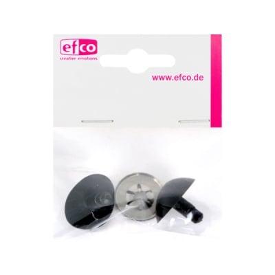 Безопасни копчета – нослета, 19 mm, 2 броя, черни